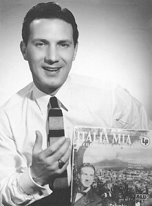 M. Verso with one of his Columbia records