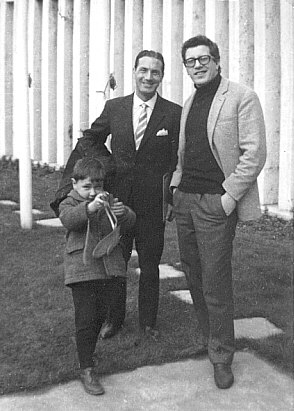 Photo of Michelangelo Verso together with the famous Neapolitan singer, Peppino di Capri