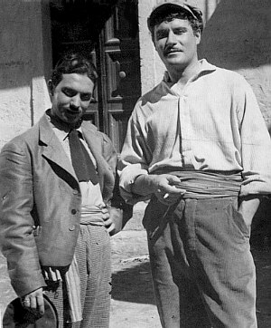 Michelangelo Verso together with Amedeo Nazzari - Cinecittà 1942