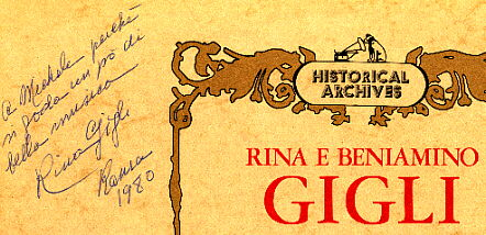 Another inscription by Rina Gigli dedicated to Michelangelo Verso