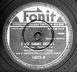 Fonit label of 'E vui durmiti ancora'