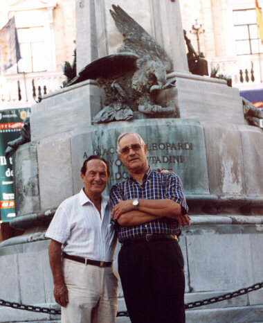 M. Verso together with Prof. Luigi Vincenzoni, nephew of B. Gigli