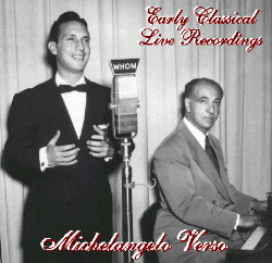 CD: Michelangelo Verso - Early Classical Live Recordings
